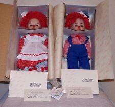 Marie Osmond Rosie & Rags #4900 & 5200 Twins Porcelain Dolls Set of 2
