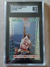1992-93 Topps Stadium Club Beam Team Michael Jordan SGC 8.