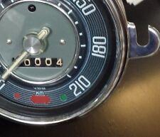 VW ESCARABAJO Karmann Ghia TACHO TACóMETRO Speedo hasta 210 KM/H