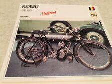 Carte moto Piedboeuf moto légère 1903 collection Atlas motorbike Belgique