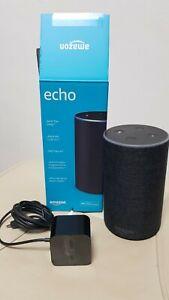 Amazon Echo (2. Generation) Sprachgesteuerter Smart Assistant - Anthrazit Stoff