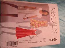 McCalls Pattern, Uncut/unused in package 5656 M5656 Girls dresses
