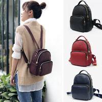 Women's Small Mini Genuine Leather Backpack Rucksack Daypack Purse Cute bag
