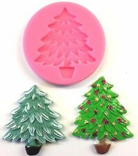 SILICONE MOULD CHRISTMAS TREE CAKE TOPPER DECORATING FONDANT ICING SUGAR PASTE