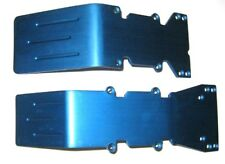 T-Maxx, E-Maxx Blue Anodized Aluminum skid plate set NEW Front and Rear