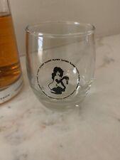 Playboy Play Boy Bunny Playmate Bar Clear Glass Tumbler Hugh Hefner Vintage