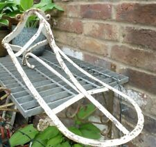 VINTAGE CAST IRON SHABBY ARCHITECTURAL SALVAGE METAL SADDLE RACK WITH HOOK