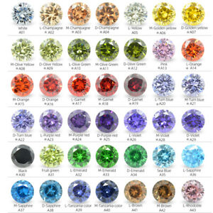 1000pcs 0.8~3.5mm Round Loose CZ Stone High Quality Cubic Zirconia Various Color