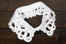 False Polyester White Peter Pan Collar Faux Decorative Detachable Removable