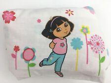 Dora the Explorer Twin Bed Flat Sheet Floral Pattern Girls Kids Nickelodeon