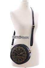 LB-28 black Vintage Uhr Clock Lolita Gothic Bag Harajuku Lolita Umhänge-Tasche