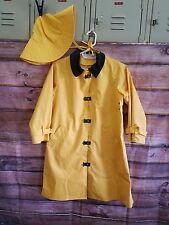 American Girl Pleasant Company Vintage Yellow Rain Slicker Coat & Hat Molly S