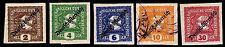 1919 Austria #P24-28 Newspaper Overprints - Most Mogh - Vf - Cv$10.65 (E#2247)