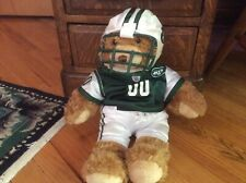 Jets Uniform Build a Bear Plush Brown Teddy Bear Stuffed Animal 16� w/ box