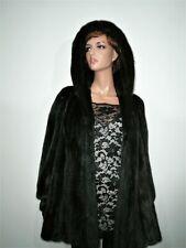 Genuine Blackglama Real Mink Fur Jacket Coat Hood Норка Vison Nerz 12 - 14 -16