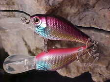 """BULLBAIT 3 1/3"""" Floating 0 to 5 feet Crankbait Lure in Color#20 for Bass/Walleye"""
