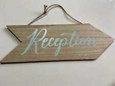 Reception Arrow Sign Hanging wooden