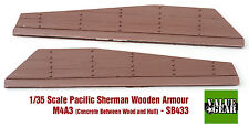 1/35 Pacific Sherman Wood + Concrete Plank Armor M4A3 Set #3 - Value Gear SB433