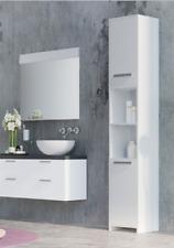 White Bathroom Cabinet Tall Unit Free Standing Storage Shelves Bath Furniture UK