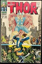 MIGHTY THOR #138 VG+ SOLID ULIK  SIF,ASGARD+JANE IN PERIL,HOGUN THE GRIM BACKUP