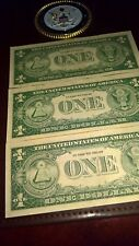 1935 H- 3 CONSECUTIVE SILVER CERTIFICATE $1 ,-  NEW  E07399382;3&4 #416wmh
