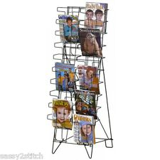 Magazine/Literature Floor Easel Display Rack - 20 Pocket 8 1/2'' x 11''