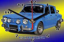 WALL CLOCK, RENAULT 8 -01M, 11,8x 7,8 inches Car - Passenger and aluminium
