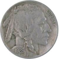 1926 Indian Head Buffalo Nickel 5 Cent Piece VF Very Fine 5c US Coin Collectible