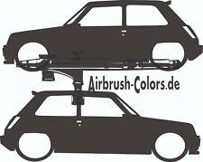 Pegatina/sticker Renault/Reno - 5-turbo - 1982 silueta * tuning * sticker