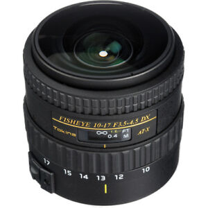 New Tokina AT-X 107 DX FISHEYE 10-17mm f/3.5-4.5 Lens - Nikon F APS-C Format