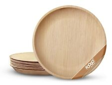 More details for foogo green disposable large palm leaf plates bamboo wooden eco-friendly party