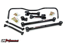 UMI Performance 68-72 GM A-BodyTubular Rear Lower & Upper Control Arms Kit BLACK