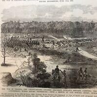 Civil War - THE WAR IN VIRGINIA - COLORED REGIMENT - DUNCANS BRIGADE - 1896