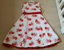 Girls Special Ocassion Strawberry Print Dress Age 10Years BNWT - PRICE REDUCED!!