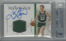 LARRY BIRD 2014-15 NATIONAL TREASURES NBA GAME GEAR SIGNATURES BGS 9/AU 10