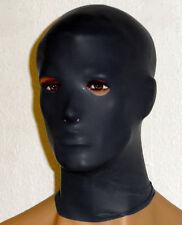 Poids lourd noir latex caoutchouc anatomique féminin masque capuche taille unique gummi gimp