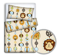 Baby Bedding Set Pillowcase Duvet Cover 2pc to Fit Cot Cotbed Junior Bed 80x70 Cm 56. Zoo Red