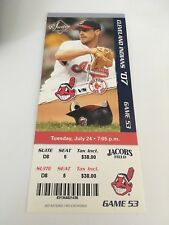 Matsuzaka Win Papelbon Save July 24 2007 7/24/07 Indians Red Sox Full Ticket