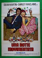 Werbeplakat Ein Nacht Ereignisreiche Dean Martin Shirley Maclaine Kino Film M68