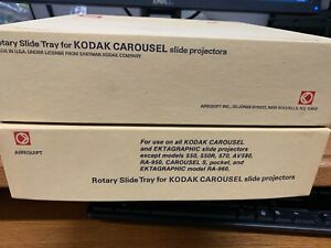 Lot of 2 Trays - Kodak Carousel Projectors 80 slide tray by Airequipt