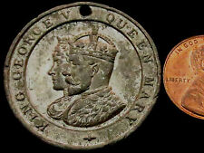 S328: 1911 King George V & Queen Mary Coronation Medal in white metal