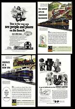 Railroads. Advertising from old Magazines (two sides). General Motors (L.#3)