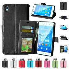 Luxury Magnetic Flip Cover Stand Wallet PU Leather Case For Sony Xperia Mobles