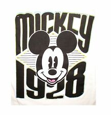 NWOT Disney Graphic Tee Mickey Mouse 1928 Juniors White Round Neck Cap Sleeve