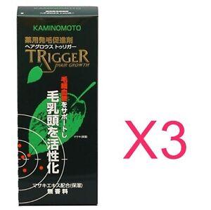 3bottles Kaminomo trigger 180ml Medical HairTonic Promoting hairgrowth Tracking