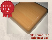 "New 60"" Round Resin Restaurant Table top in Natural (Eased Edge) with Quick Ship"