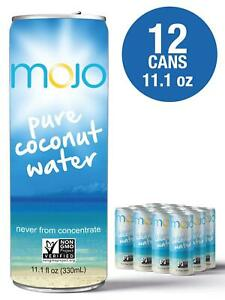 MOJO Organics Pure Coconut Water, 11.1 oz (12 PACK)