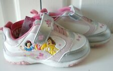 New Disney Princess Toddler Girls Pink Heart Velcro Sneakers Athletic Shoes Sz 9