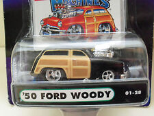 MUSCLE MACHINES (1950) '50 FORD WOODY (BLACK) 1/64 DIECAST MODEL