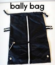 BALLY toiletry bag shoe nylon black men lady first class airline jewelry travel